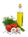 Set of ingredients and spice for food cooking. Isolated on white background Stock Photography