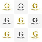 Set of Initial CG logo vector template royalty free illustration
