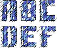 Set of initial letters ABCDEF Stock Photos