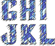 Set of initial letters GHIJKL Stock Photos