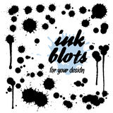 Set of ink blots for your design. Flat style Stock Images