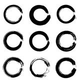 Set of ink circles. Royalty Free Stock Photos