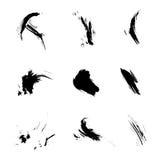 Set of ink grunge brush. Icon, Logo, Design elements royalty free illustration