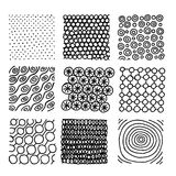 Set of ink hand drawn vector design elements. Royalty Free Stock Photos