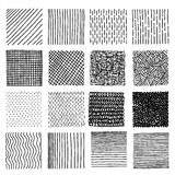 Set of ink hand drawn vector design elements. Royalty Free Stock Photography