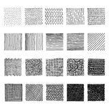 Set of ink hand drawn vector design elements. Royalty Free Stock Photo