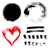 Set of ink paint frames Royalty Free Stock Images