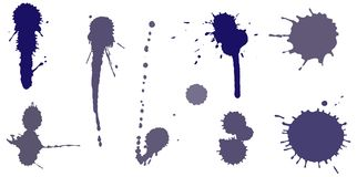 Set of ink splashes Stock Photo