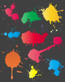 Set of ink splashes Royalty Free Stock Image