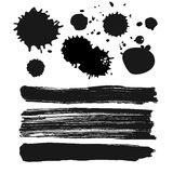 Set of ink stains. Blots and blobs Stock Images