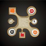 Set of the inphographic icons Royalty Free Stock Photos