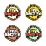 Set inscription for thanksgiving on a white background. royalty free illustration