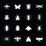 Set of insect icon Royalty Free Stock Image
