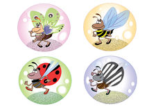 Set insects Stock Photography