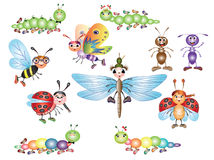 Set insects Stock Image