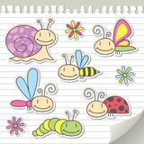 Set of insects Stock Image