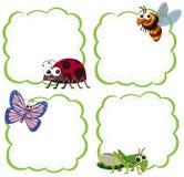 Set insekt notatki szablon royalty ilustracja