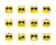 Set inspirational bearded emoticons Stock Image