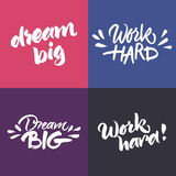 Set of inspirational and motivational quotes Stock Photography