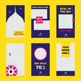 Set of Instagram stories ramadan sale banner background, instagram template photo, can be use for, landing page, website, mobile. App, poster, flyer, coupon stock illustration