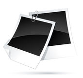 Set of instant photo frames Stock Image