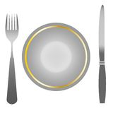 The set of instruments for the food,food. The set of instruments for human food,for use in the restaurant business royalty free illustration