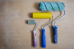 Set of instruments for painting walls Stock Photos