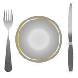 Set instrumenty dla jedzenia, jedzenie Obrazy Royalty Free