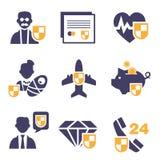Set Insurance Icons Royalty Free Stock Photography