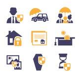 Set Insurance Icons Royalty Free Stock Photos