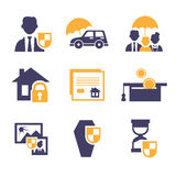 Set Insurance Icons Royalty Free Stock Photos