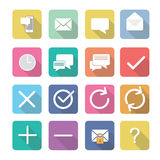 Set of  interface elements icons in flat design Stock Photography