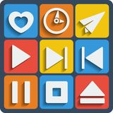 Set of 9 interface web and mobile icons. Vector. Stock Images