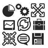 Set of interface web and mobile icons. Vector. Royalty Free Stock Images
