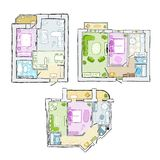 Set of interior apartment, sketch for your design Royalty Free Stock Image