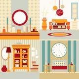 Set of interior design Stock Images