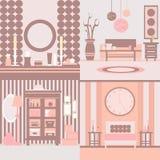 Set of interior design Stock Photography