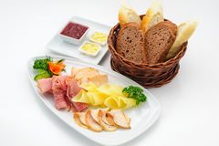 Set of international dishes arranged for catering Royalty Free Stock Photography
