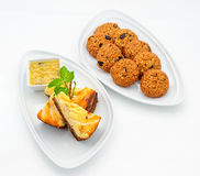 Set of international dishes arranged for catering Stock Images