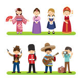 Set of international people  on white background. nation Royalty Free Stock Images