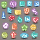 Set internetów sieci ikony Zdjęcie Royalty Free