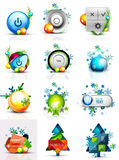 Set of internet buttons, Christmas concept Stock Photo