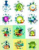 Set of internet buttons, Christmas concept Royalty Free Stock Photo