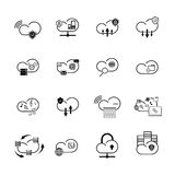 Set with internet cloud icons Stock Image