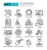Set of internet company services and clients support icons. Modern editable line vector illustration, set of internet company services and clients support icons Royalty Free Stock Image
