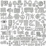 Set Internet doodles Stock Photo