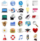 Set of internet icons. Raster version of illustration Stock Image
