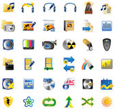 Set of Internet Icons. Set of multimedia internet icon, vector illustration Stock Image