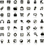 Set of internet icons. Stock Image