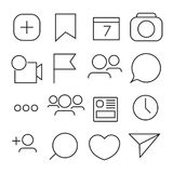 Set of Internet icons. Line, outline style. Vector image illustration. Stock Photos